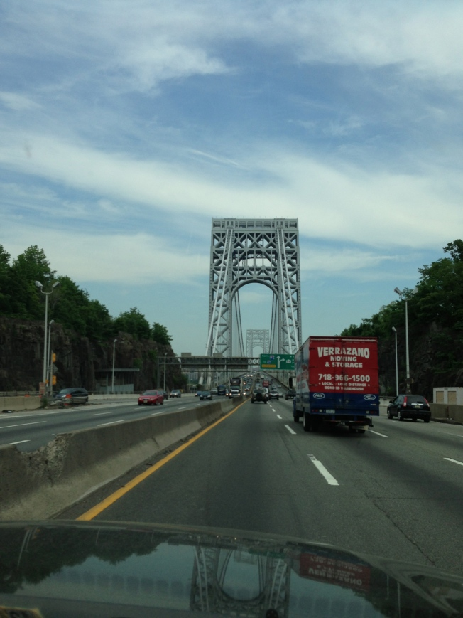 GW Bridge en route to Manhattan.