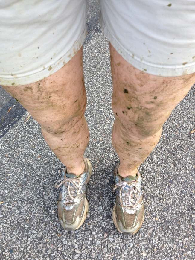 Oh! Yes, I also went on Wednesday to help clear the racecourse for the Stormageddon that was heading our way. People pay big bucks to have their legs wrapped in sea kelp. Me? I got it done free and I smelled like a fishwife just for showing up.