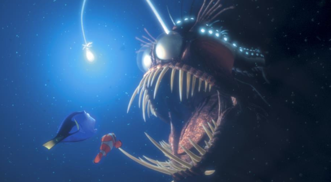 Angler fish? That dude lives in some seriously dark and cold water. But even he needs light to trap and survive.  (c) Disney / Pixar, disneywiki images