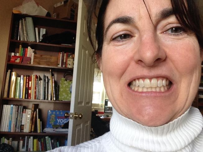 my teeth. look only at my teeth. ok... look at my bookshelf. it's like my intellectual medicine cabinet.