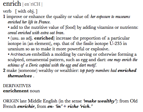 when i get stumped, i look up an official definition, despite my previous appreciation for a word.