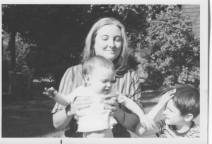 this is mom holding me in 1968 after i clearly just swatted my older brother. poor guy...