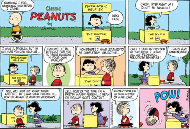 I miss you, Charles Schulz.