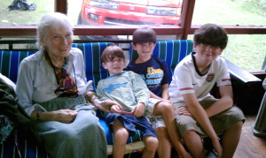 Mimi and the boys, summer 2009.